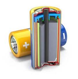 Батарея в разрезе